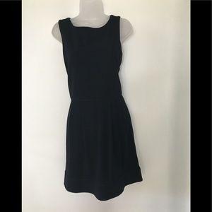 Diane Von Furstenberg Black Midi Back Zip Dress
